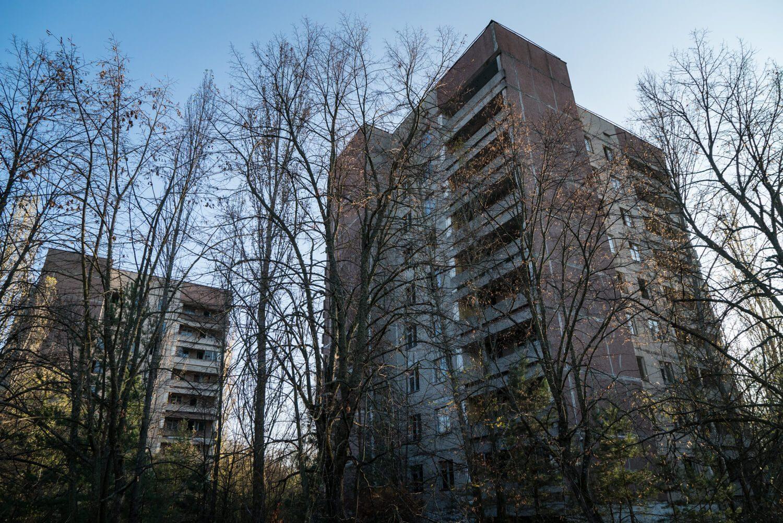Pripyat residential buildings