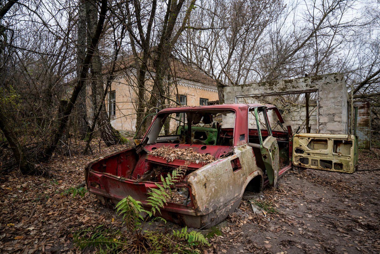 A Lada in Chernobyl