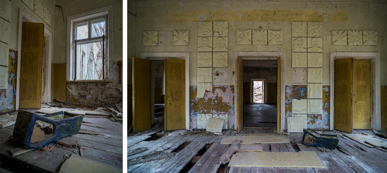 Inside the Cultural Center in Zalissya.