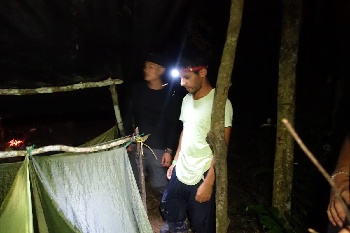 Norbert's tent in the Amazon