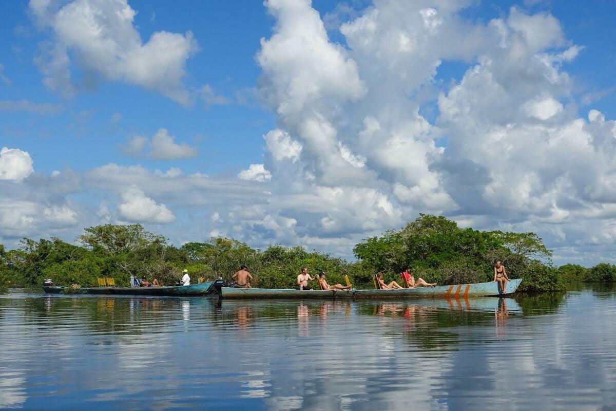 Amazon pampas boats