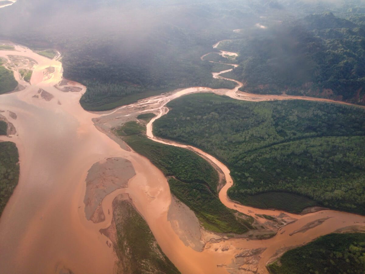 Amazon river from above