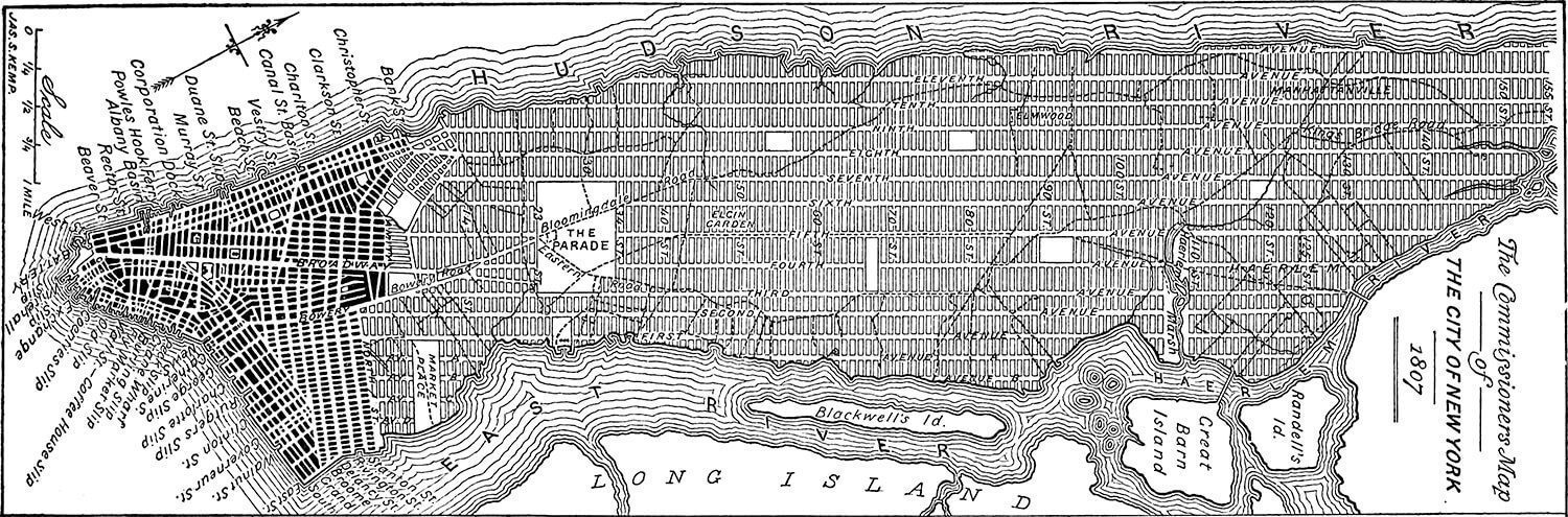 NYC GRID from 1811