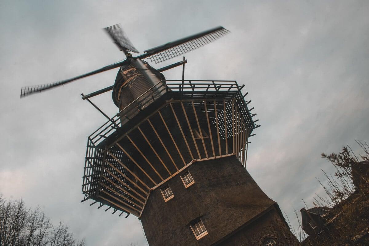 A windmill in Amsterdam