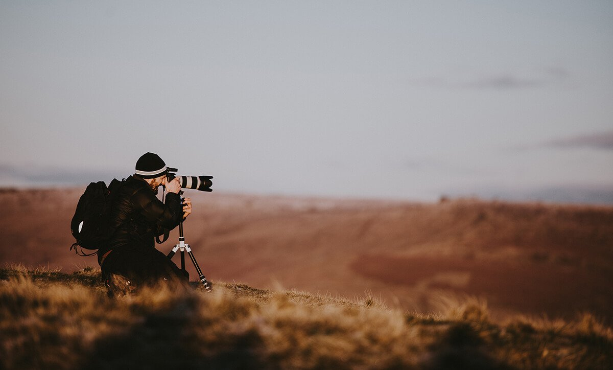 Photographer in the outdoors