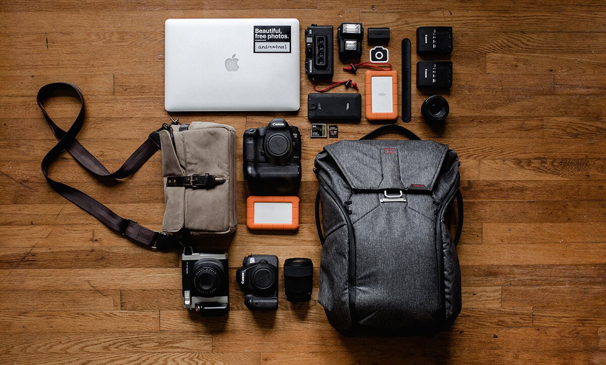 Photography bag and equipment