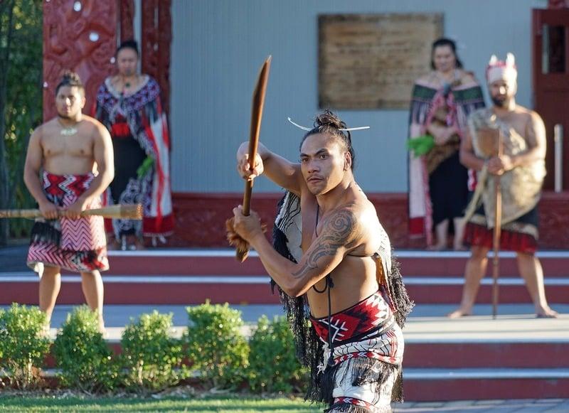 Maori warrior in New Zealand
