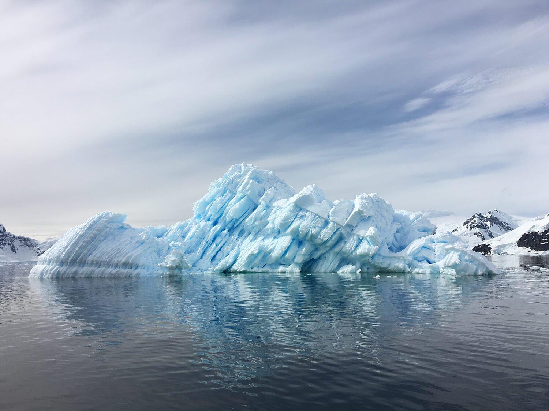 Glacier inn Antarctica