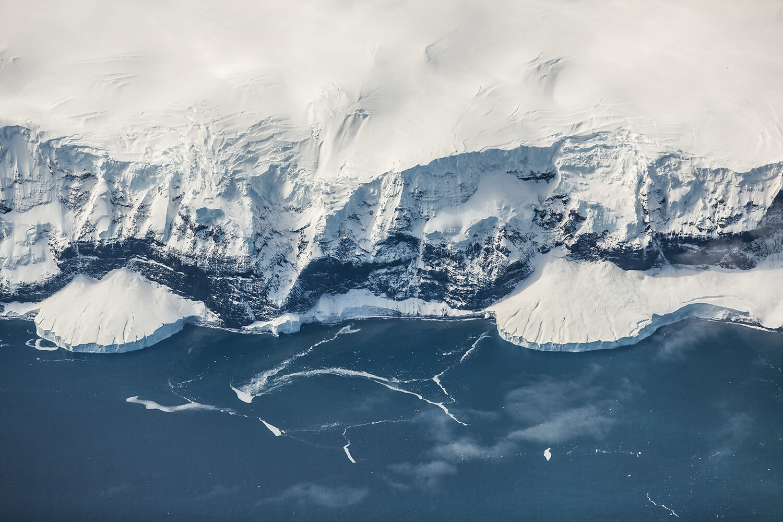 Icy shore in Antarctica