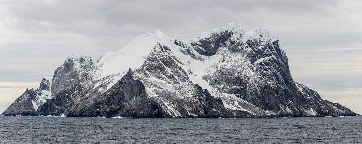 Island in Antarctica