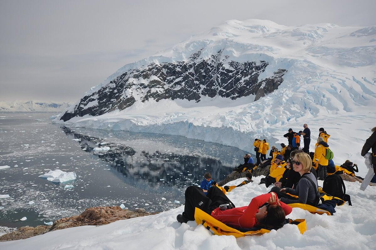 Travelers in Antarctica
