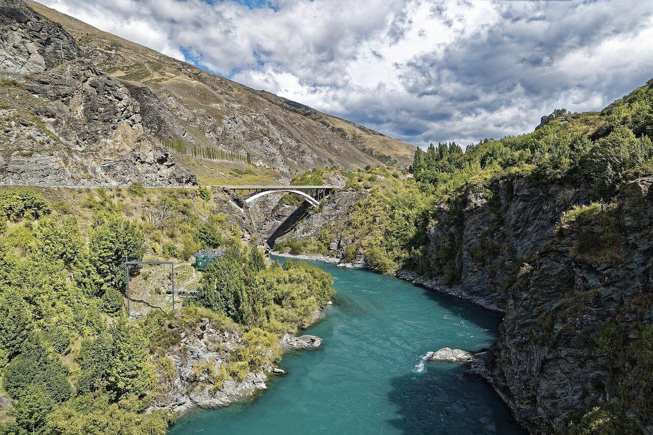 Kawarau river in New Zealand