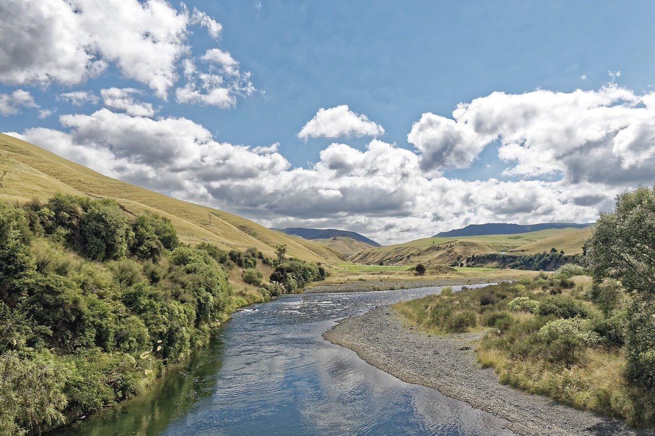 Rangitikei river in New Zealand