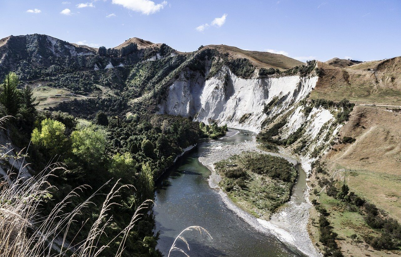 River gorge in New Zealand