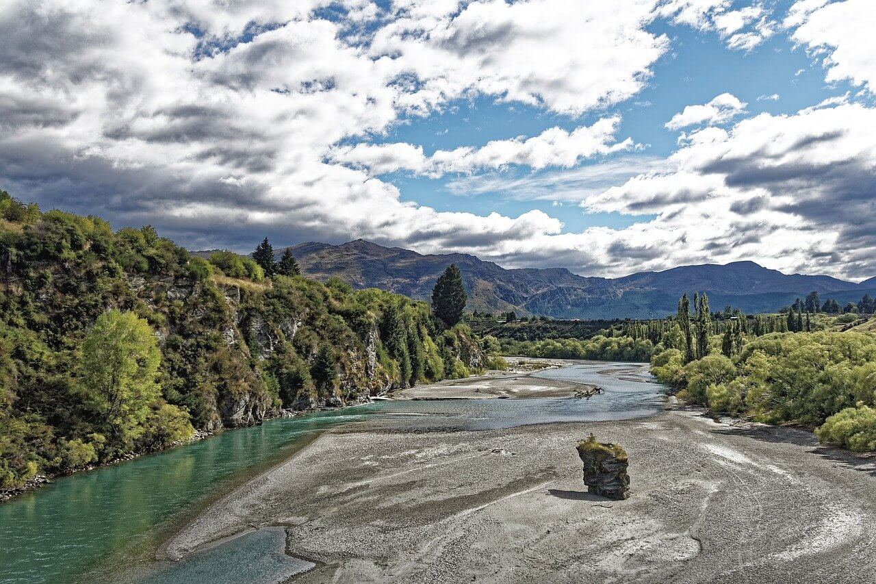 Shotover river in New Zealand