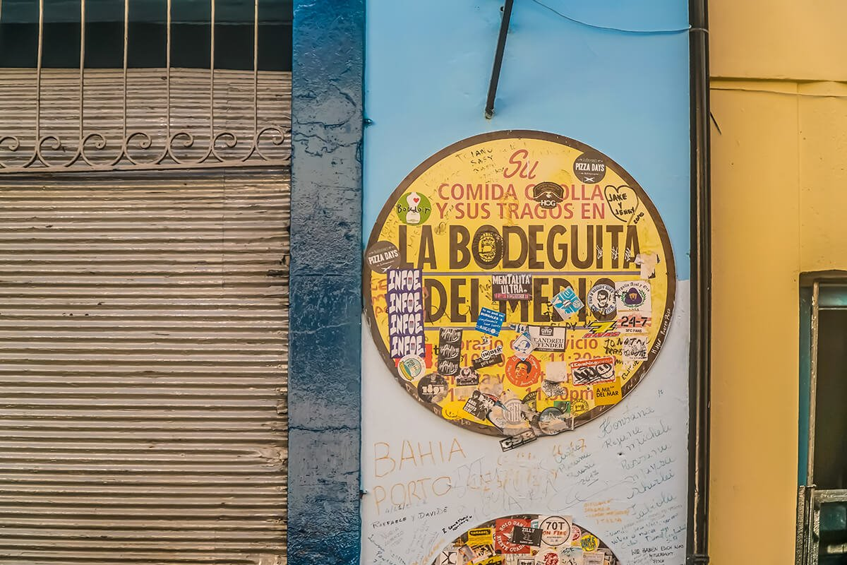 La Bodeguita del Medio in Havana, Cuba