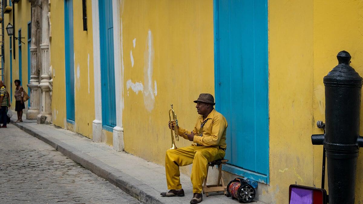 Musician in Havana, Cuba