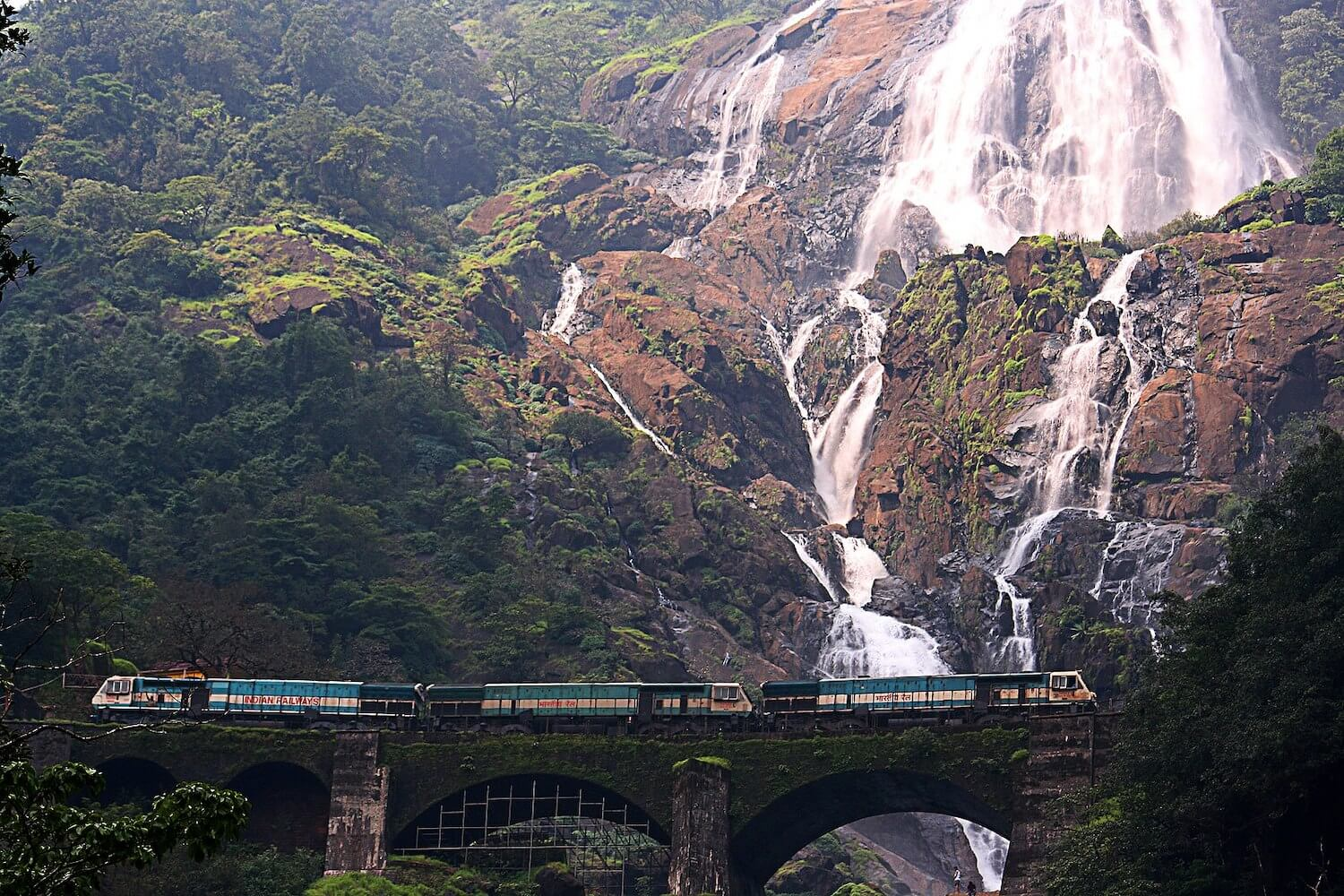 Dudhsagar Falls in Mollen national Park - India