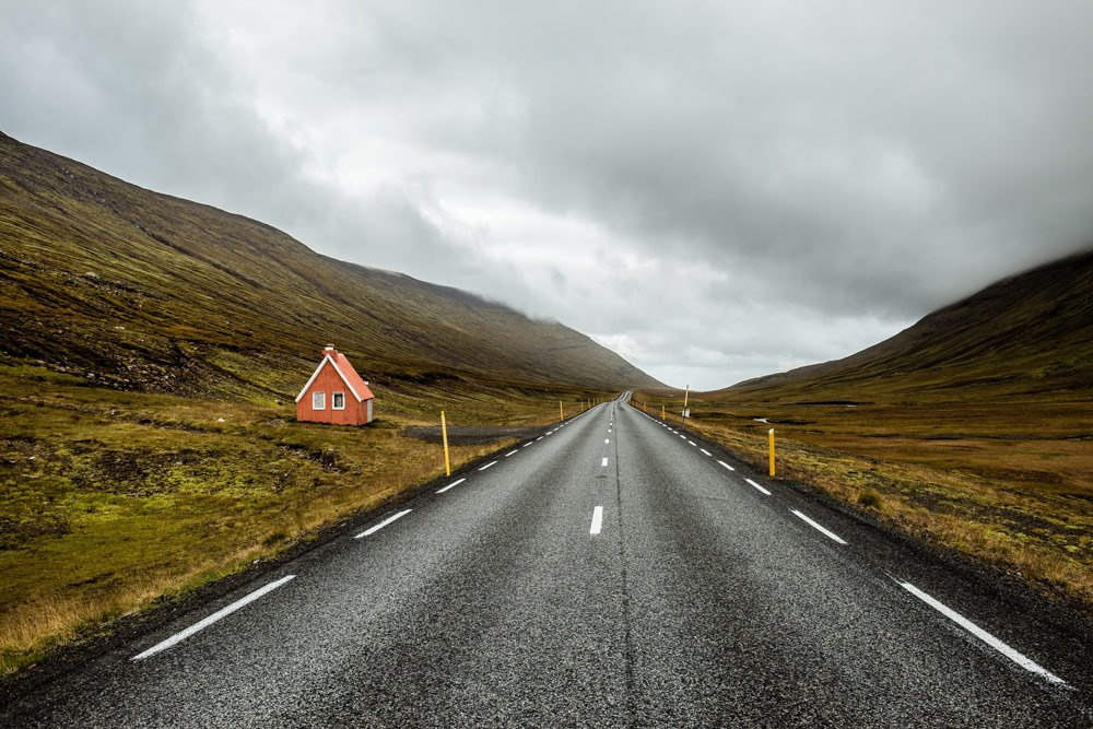 Iceland driving road conditions - paved roads