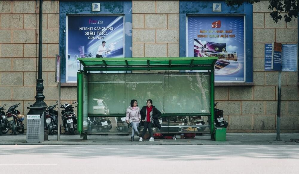 bus stop terminal Cancun to Belize travel