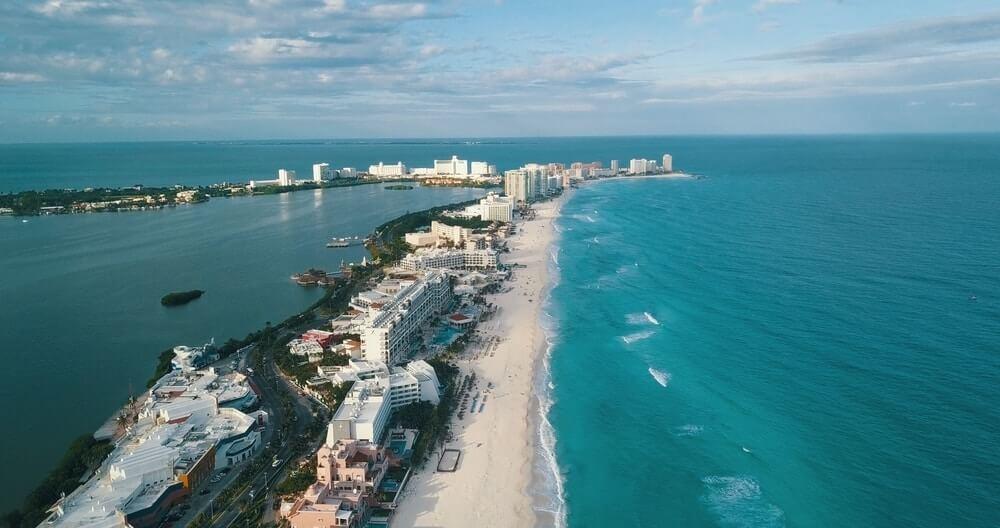 Cancun Aerial Shot