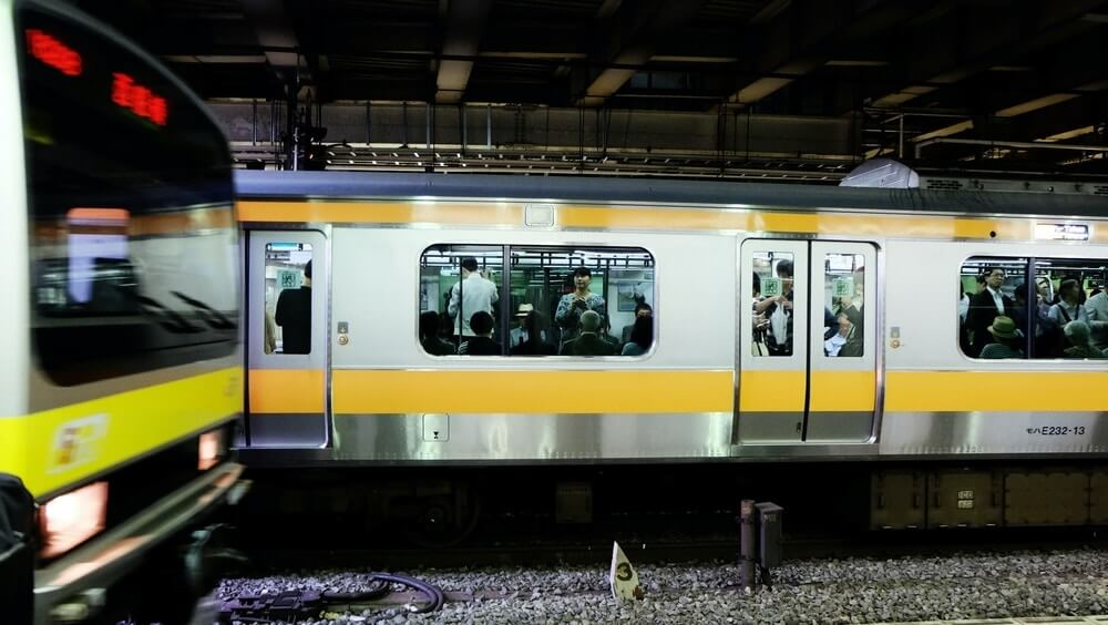 Japanese Train in Station