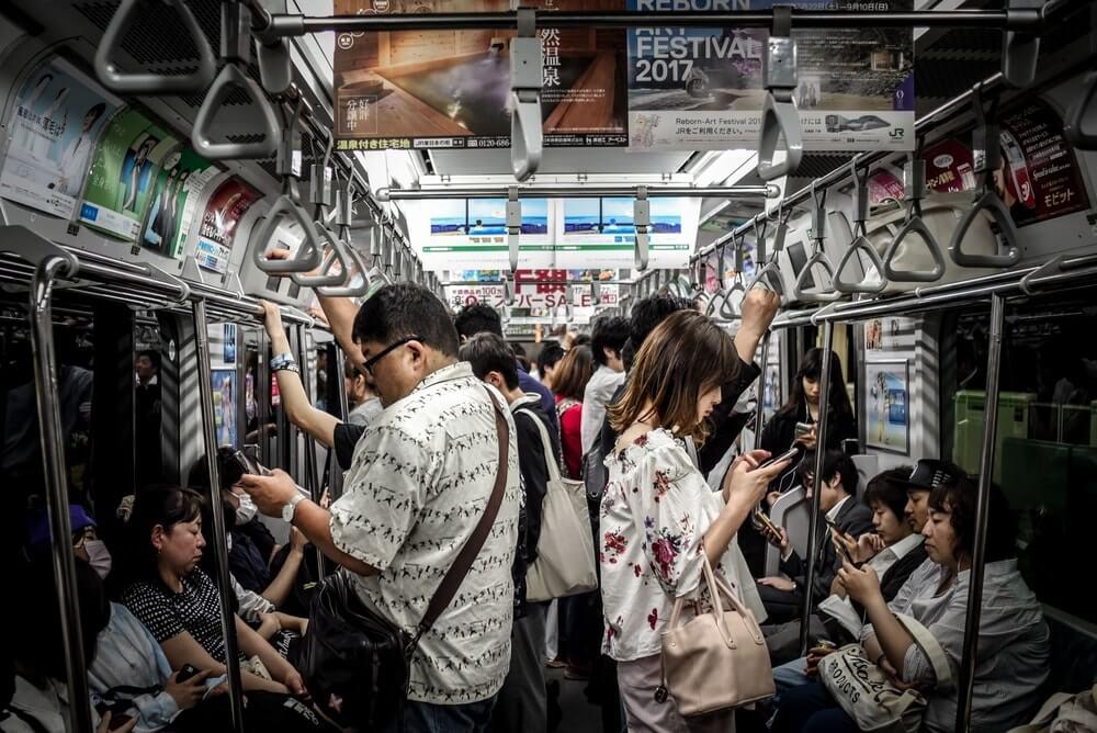 Tokyo Train Car Full