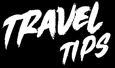 Travel Tips Typography